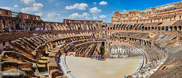 Panorama view of the Colosseum, Italy
