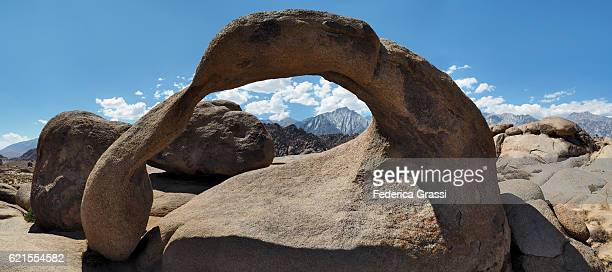 Panorama View Of The Famous Mobius Arch, Alabama Hills, Lone Pine, California
