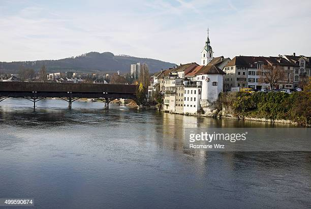 Panorama view of the Swiss town of Olten, Canton Solothurn