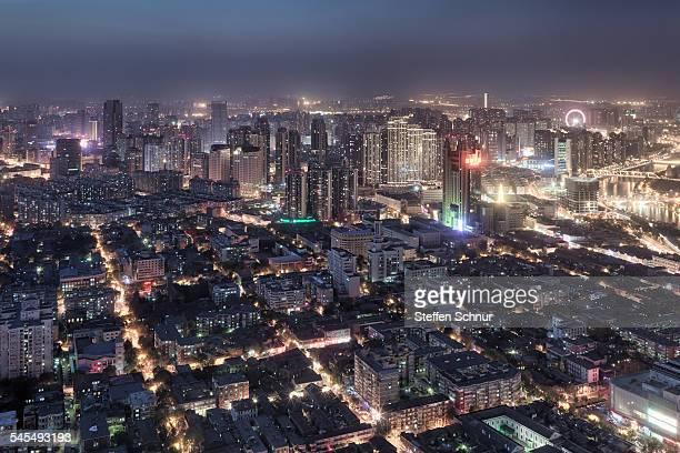 panorama view of Tianjin China cityscape skyline