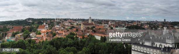 Panorama View Of Vilnius Seen From The Gediminas Tower, Lithuania, Northern Europe