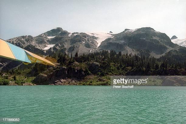 Panorama-Blick, See, Whistler bei Vancouver, Kanada, Nordamerika, Amerika, Hubschrauber, Luftaufnahme, Luftbild, Winter, Schnee, Berge, Reise, CP/KS,...