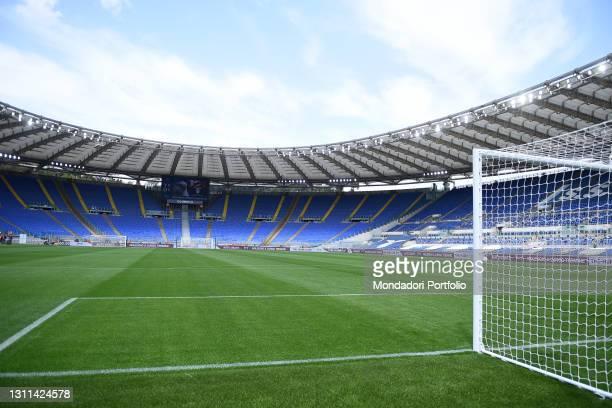 Panoramas of the empty stadium during the match Lazio-Spezia at the stadio Olimpico. Rome , April 03rd, 2021