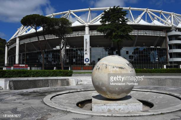 Panoramas of the Stadio Olimpico in Rome that will host the inaugural race of the European football championships on June 11. Rome , May 5th, 2021