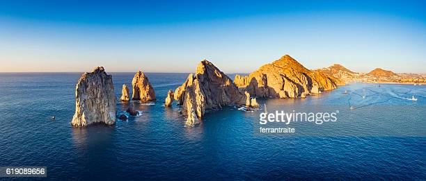 panoramic aerial view of cabo san lucas mexico - sea of cortez stock pictures, royalty-free photos & images