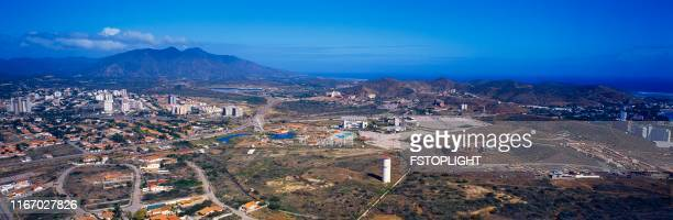 Panoramic aerial view of Pampatar city