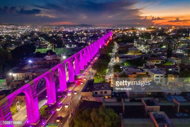 panoramic aerial view of queretaro skyline - queretaro state stock pictures, royalty-free photos & images