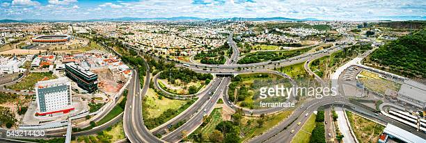 panoramic aerial view of santiago de queretaro mexico - queretaro state stock pictures, royalty-free photos & images