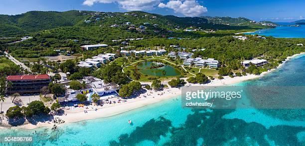panoramic aerial view of Sapphire Bay, St.Thomas, US Virgin Islands