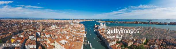 ヴェネツィア,イタリアのパノラマ航空写真 - プンタデラドガーナ ストックフォトと画像