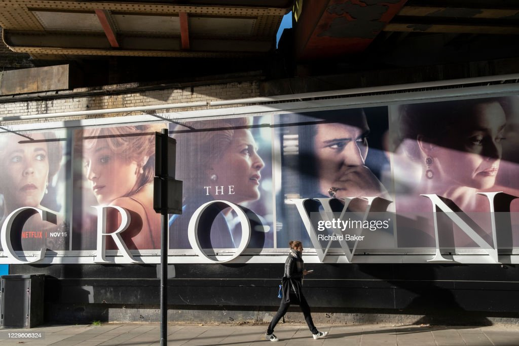 The Crown Billboard : News Photo