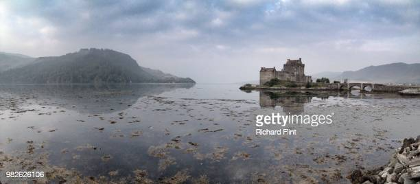 Panoramic calm early morning at Eilean Donan