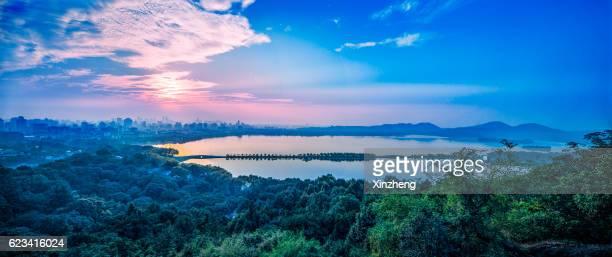 Panoramic city Hangzhou China
