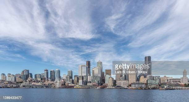 panoramic city skyline in xiamen china,seattle,wa,united states,usa - washington state stock pictures, royalty-free photos & images