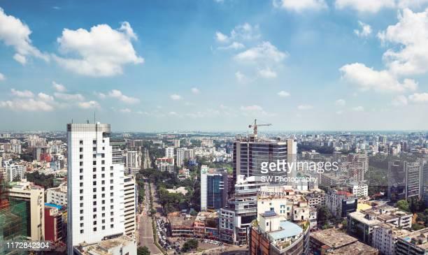 panoramic cityscape of dhaka, bangladesh - dhaka stock pictures, royalty-free photos & images