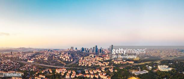 panoramic cityscape photo of istanbul - istanbul stock pictures, royalty-free photos & images