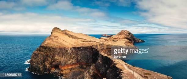 panoramic east cape of madeira island - isola di madeira foto e immagini stock