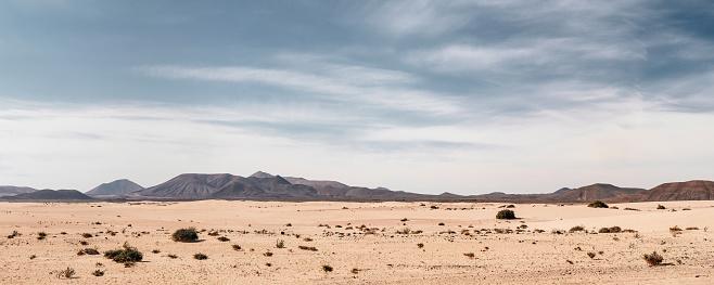 Panoramic empty desert background 1097799500