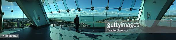 Panoramic from inside The Spinnaker Tower Portsmouth UK