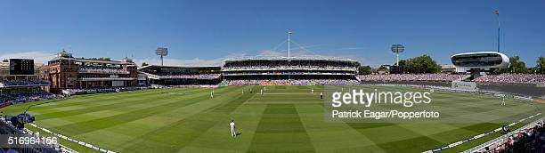 Panoramic general view of the ground during the 3rd Test between England and South Africa at Lord's Cricket Ground London 18th August 2012 South...