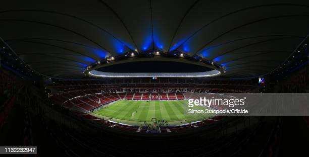 A panoramic general view prior to the international friendly match between Argentina and Venezuela at Estadio Wanda Metropolitano on March 22 2019 in...