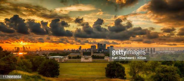panoramic hdr greenwich - london docklands stock pictures, royalty-free photos & images