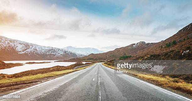 panoramic highway to isle of skye, highlands scotland - mid section stock photos and pictures