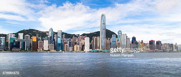 Panoramic Hong Kong skyline