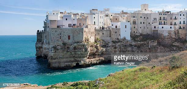 panoramic image of Polignano a Mare, Puglia, Italy