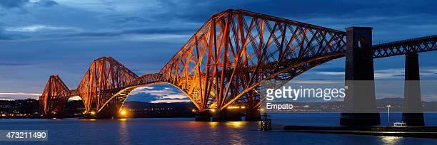 Panoramic Image of the iconic Forth Rail Bridge, Scotland.