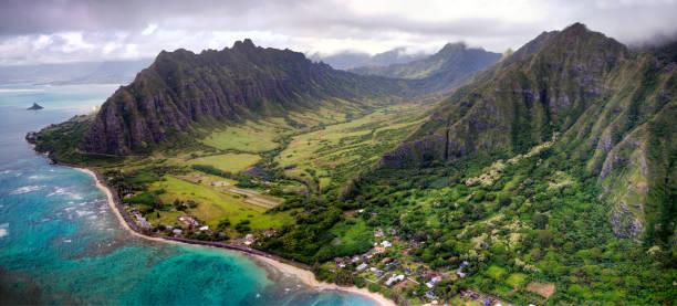 Panoramic Kaaawa Valley Oahu