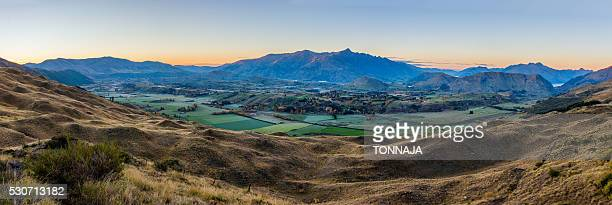 Panoramic landscape from Coronet peak, Queenstown