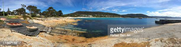 Panoramic landscape of Bay of Bicheno bay Tasmania Australia