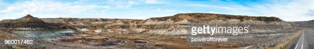 Panoramic Landscape of the Canadian Badlands, Alberta, Canada