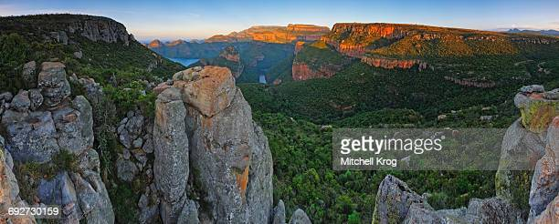 Panoramic Landscape Photo of the Grand Blyde River Canyon in the Mpumalanga Province, South Africa