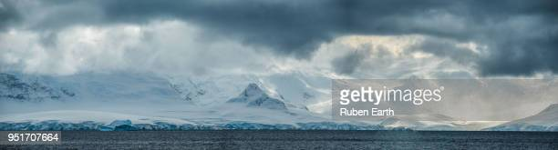 Panoramic landscape view of Antarctic Peninsula