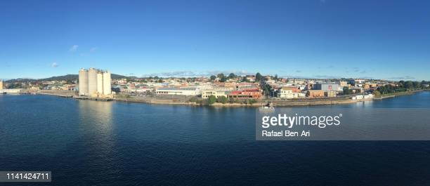 panoramic landscape view of devonport tasmania australia - rafael ben ari stock pictures, royalty-free photos & images