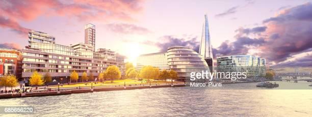 Panoramic London at sunset