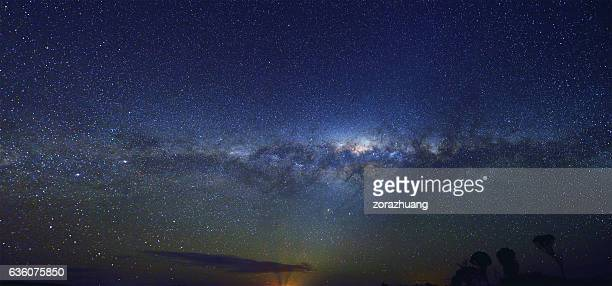panoramic milky way - southern hemisphere stock photos and pictures