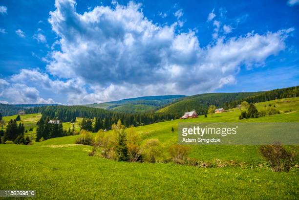 panoramic mountain view (hdri) - czech republic stock pictures, royalty-free photos & images
