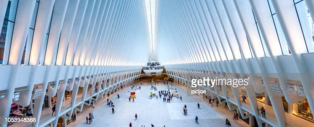 Panoramic oculus Inside of World Trade Center Transportation Hub new york