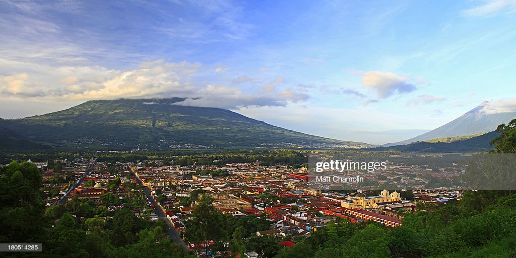 Panoramic of Antigua Guatemala : Stock Photo