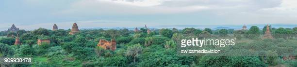 Panoramic of Bagan ancient temples, Myanmar
