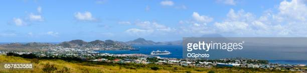 Panoramic of Basseterre, Saint Kitts and Nevis