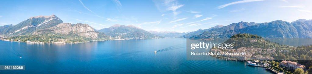 Panoramic of Bellagio, Lake Como, Italy : Stock Photo