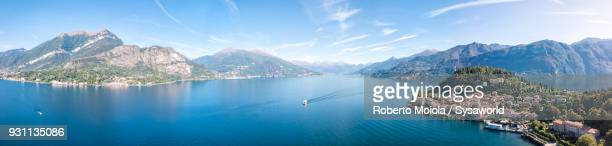 panoramic of bellagio, lake como, italy - lake como stock pictures, royalty-free photos & images