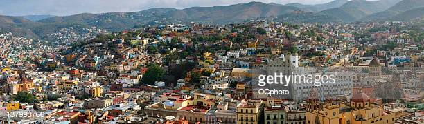 xxxl: panoramic of guanajuato, mexico - ogphoto stock pictures, royalty-free photos & images