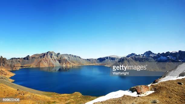 panoramic of Lake Tianchi,Jilin Province,China.