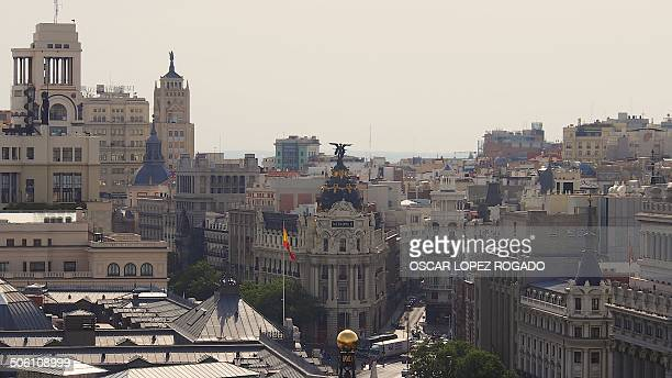 CONTENT] Panoramic of Madrid with the METROPOLIS building