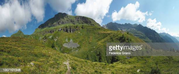 panoramic of mount pizzo stella or martschenspitz from grossalp, bosco gurin - {{asset.href}} stock pictures, royalty-free photos & images